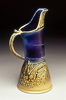 Hand made ceramic pitcher by artist Mark Hudak