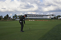 Lee Slattery (ENG) on the 18th fairway during Round 4 of the D+D Real Czech Masters at the Albatross Golf Resort, Prague, Czech Rep. 03/09/2017<br /> Picture: Golffile   Thos Caffrey<br /> <br /> <br /> All photo usage must carry mandatory copyright credit     (&copy; Golffile   Thos Caffrey)