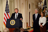 United States President Donald J. Trump announcesNeil Gorsich as his nominee to be Associate Justice of the US Supreme Court to replace Justice Antonin Scalia in the East Room of the White House in Washington, DC on Tuesday, January 31, 2017.<br /> Credit: Ron Sachs / CNP