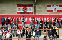 Fleetwood Town fans enjoy the first half action<br /> <br /> Photographer Rich Linley/CameraSport<br /> <br /> The EFL Sky Bet League One - Fleetwood Town v Oxford United - Saturday 7th September 2019 - Highbury Stadium - Fleetwood<br /> <br /> World Copyright © 2019 CameraSport. All rights reserved. 43 Linden Ave. Countesthorpe. Leicester. England. LE8 5PG - Tel: +44 (0) 116 277 4147 - admin@camerasport.com - www.camerasport.com