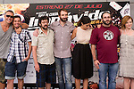 24.07.2012. Presentation at the Madrid Film Academy of the movie 'Impavido´, directed by Carlos Theron and starring by Marta Torne, Selu Nieto, Nacho Vidal, Carolina Bona, Julian Villagran and Manolo Solo. In the image Nacho Vidal, Selu Nieto, Manolo Solo, Julian Villagran, Marta Torne,  Carlos Theron and Carolina Bona (Alterphotos/Marta Gonzalez)