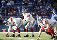27 Nov 2005:   New York Giants quarterback Tim Hasselback warmed up before the start of the game against the Seattle Seahawks at Qwest Field in Seattle, Washington.