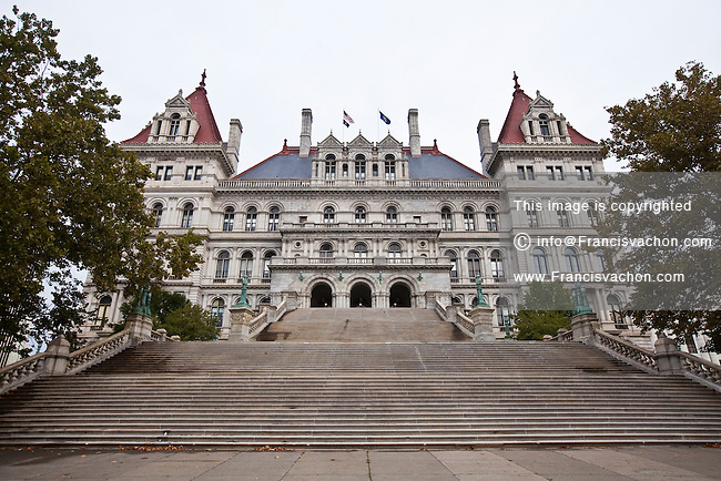 The New York State Capitol is pictured in Albany, NY, Tuesday September 10, 2013.  Housing the New York State Legislature, The New York State Capitol is the capitol building of the U.S. state of New York.