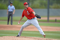 Los Angeles Angels of Anaheim pitcher Kyle McGowin (66) during an Instructional League game against the Arizona Diamondbacks on October 7, 2014 at Salt River Fields at Talking Stick in Scottsdale, Arizona.  (Mike Janes/Four Seam Images)