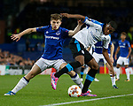 Jonjoe Kenny of Everton and Anton Maglica of Apollon Limassol FC during the Europa League Group E match at Goodison Park Stadium, Liverpool. Picture date: September 28th 2017. Picture credit should read: Simon Bellis/Sportimage