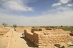 Israel, Negev desert, Tel Beer Sheba, the peripheral street at the Biblical city of Beer Sheba, UNESCO World Heritage Site