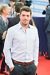 """poses on the red carpet before the screening of the film """"The Man from U.N.C.L.E."""" during the 41st Deauville American Film Festival on September 11, 2015 in Deauville, France"""