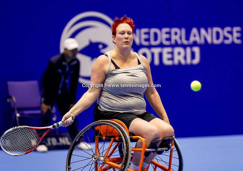 Rotterdam, Netherlands, December 13, 2017, Topsportcentrum, Ned. Loterij NK Tennis, Wheelchair, Ilse van de Burgwal (NED)<br /> Photo: Tennisimages/Henk Koster
