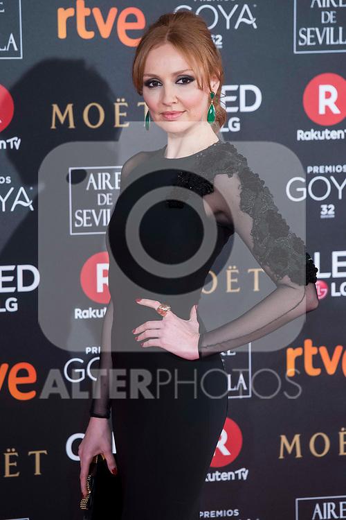 Cristina Castano attends red carpet of Goya Cinema Awards 2018 at Madrid Marriott Auditorium in Madrid , Spain. February 03, 2018. (ALTERPHOTOS/Borja B.Hojas)