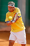 Colombia's Nicolas Mejia during Junior Davis Cup 2015 match. September  30, 2015.(ALTERPHOTOS/Acero)