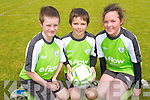 Enjoying the summer sun and soccer at the FAI summer school in Mastergeeha.<br /> L-R Conn Fleming, Darragh Kennedy, and Katie O'Leary.