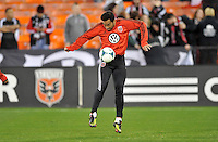 Carlos Ruiz of D.C. United during pre-game warmups, D.C. United defeated Real Salt Lake 1-0 in their home opener, at RFK Stadium, Saturday March 9,2013.