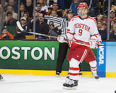 Jack Eichel (BU - 9) - The Providence College Friars defeated the Boston University Terriers 4-3 to win the national championship in the Frozen Four final at TD Garden on Saturday, April 11, 2015, in Boston, Massachusetts.