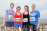 Aoife Connelly, Amy Sheehan, Trudy Kelleher and Claire Ann Daly at the Ballyheigue 10k run or half marathon on Saturday