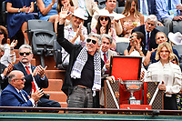 Pink Floyd bassist and singer Roger Walters and French actress Lea Seydoux  arrive with the trophy during Day 15 (Men's Final Day) of the French Open 2018 on June 10, 2018 in Paris, France. (Photo by Dave Winter/Icon Sport)