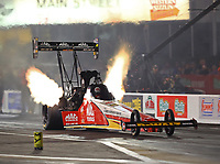 Apr 20, 2018; Baytown, TX, USA; NHRA top fuel driver Doug Kalitta during qualifying for the Springnationals at Royal Purple Raceway. Mandatory Credit: Mark J. Rebilas-USA TODAY Sports