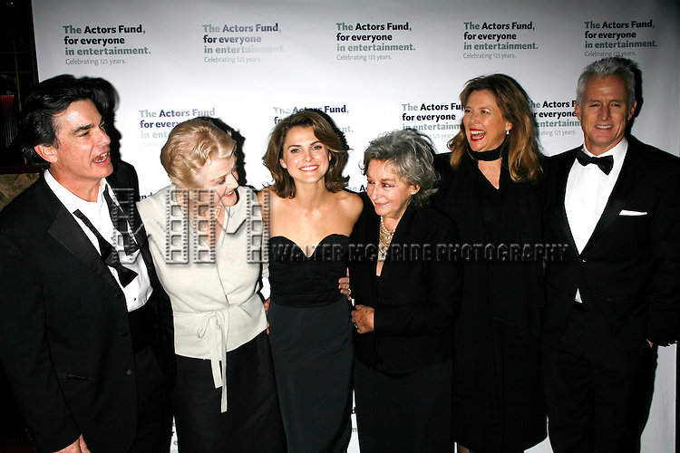 Peter Gallagher, Angela Lansbury, Keri Russell, Zoe Caldwell, Annette Bening & John Slattery.attending the After Party at Bond 45 Restaurant for The Actors Fund One Night Only Benefit of ALL ABOUT EVE at the Eugene O'Neill Theatre in New York City..November 10, 2008.© Walter McBride /