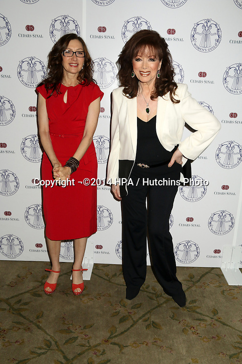 LOS ANGELES - APR 22:  Annabelle Gurwitch, Jackie Collins at the Women's Guild Cedars-Sinai Luncheon at Beverly Hills Hotel on April 22, 2014 in Beverly Hills, CA