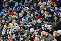 Burnley fans watch on during the second half<br /> <br /> Photographer Alex Dodd/CameraSport<br /> <br /> The Premier League - Burnley v West Ham United - Sunday 30th December 2018 - Turf Moor - Burnley<br /> <br /> World Copyright © 2018 CameraSport. All rights reserved. 43 Linden Ave. Countesthorpe. Leicester. England. LE8 5PG - Tel: +44 (0) 116 277 4147 - admin@camerasport.com - www.camerasport.com