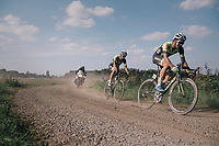Lukas Spengler (SUI/WB Veranclassic Aqua Protect) & Ludwig De Winter (BEL/WB Veranclassic Aqua Protect) over a gravel section<br /> <br /> 92nd Schaal Sels 2017 <br /> 1 Day Race: Merksem > Merksem (188km)
