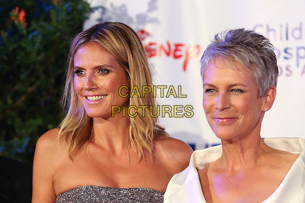 Heidi Klum, Jamie Lee Curtis.Children's Hospital Los Angeles Gala: Noche de Ninos, Los Angeles, California, USA, 20th October 2012..portrait headshot strapless silver white .CAP/ADM/PH.©Paul A. Hebert/AdMedia/Capital Pictures.