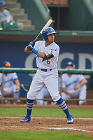 Ramon Rodriguez (6) of the Ogden Raptors bats against the Grand Junction Rockies at Lindquist Field on September 6, 2017 in Ogden, Utah. Ogden defeated Grand Junction 11-7. (Stephen Smith/Four Seam Images)