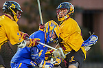 Los Angeles, CA 02/01/14 - Casey Mix (UCSB #43) and Alex Gelber (USC #4)