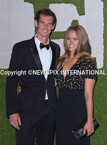 ANDY MURRAY AND GIRLFRIEND KIM SEARS ENGAGED<br /> Tennis star Andy Murray has got engaged to his long-term girlfriend Kim Sears,26, his agent has confirmed.<br /> The Scottish sports star, 27, popped the question after eight years together with an expensive diamond ring last Wednesday.<br /> The couple are said to be enjoying their engagement before they start making wedding plans.<br /> <br /> ANDY MURRAY AND GIRLFRIEND KIM SEARS<br /> attend the Wimbledon Winners Ball held at the Intercontinental Hotel, London<br /> Murray won the Wimbledon Men's Singles title beating Novak Djokovic 6-4, 7-5, 6-4 in the final to become the first British winner in 77 years.<br /> Mandatory Credit Photo: &copy;Dias/NEWSPIX INTERNATIONAL<br /> <br /> **ALL FEES PAYABLE TO: &quot;NEWSPIX INTERNATIONAL&quot;**<br /> <br /> IMMEDIATE CONFIRMATION OF USAGE REQUIRED:<br /> Newspix International, 31 Chinnery Hill, Bishop's Stortford, ENGLAND CM23 3PS<br /> Tel:+441279 324672  ; Fax: +441279656877<br /> Mobile:  07775681153<br /> e-mail: info@newspixinternational.co.uk