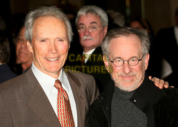 CLINT EASTWOOD & STEVEN SPIELBERG.79th Annual Academy Awards Nominees Luncheon at the Beverly Hilton Hotel, Beverly Hills, California, USA..February 5th, 2007.headshot portrait glasses beard facial hair.CAP/ADM/BP.©Byron Purvis/AdMedia/Capital Pictures