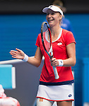 Ekaterina Makarova (RUS) defeats Simona Halep (ROU) 6-4, 6-0