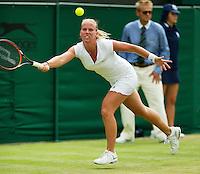 England, London, June 30, 2015, Tennis, Wimbledon, Richel Hogenkamp (NED)<br /> Photo: Tennisimages/Henk Koster