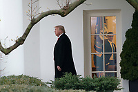 United States President Donald J. Trump departs the White House in Washington, DC, February 10, 2020, headed for a political rally in Manchester, NH. Credit: Chris Kleponis / Pool via CNP/AdMedia