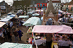 Street market, Market Hill, Woodbridge, Suffolk