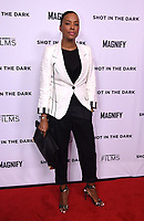"""WEST HOLLYWOOD - FEBRUARY 15: Aisha Tyler arrives for the LA screening of Fox Sports """"Shot in the Dark"""" at the Pacific Design Center on February 15, 2018 in West Hollywood, California.(Photo by Frank Micelotta/Fox/PictureGroup)"""