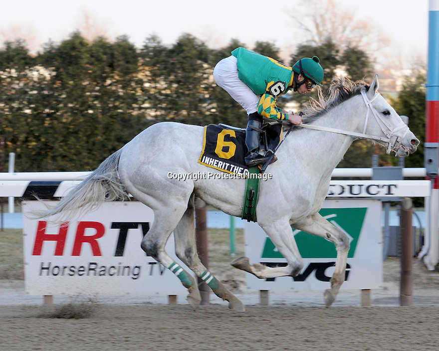 Inherit the Gold captures The Kings Point at Aqueduct, New York....3/12/11....Ridden by Eddie Castro