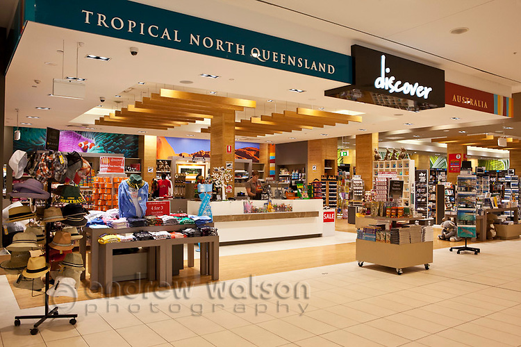 Gift store at Cairns Domestic Airport, Cairns, Queensland, Australia