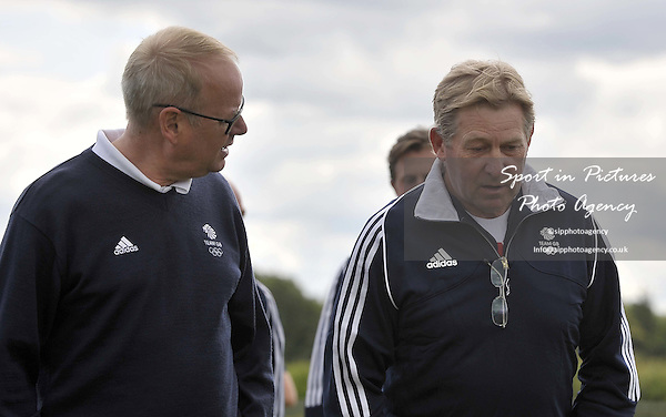 Mark England (TeamGB chef de mission for Rio2016) and Nick Skelton OBE. TeamGB announce the equestrian team for the Rio2016 Olympics. The old bull pen. Chippenham. Wiltshire. UK. 05/07/2016. ~ MANDATORY CREDIT Garry Bowden/SIPPA - NO UNAUTHORISED USE - +447837 394578