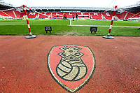 General View of Rotherham United Stadium during the Sky Bet League 1 match between Rotherham United and Fleetwood Town at the New York Stadium, Rotherham, England on 7 April 2018. Photo by Leila Coker.