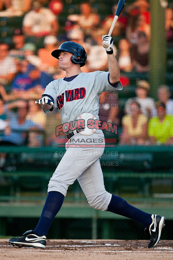 Designated Hitter Brock Kjeldgaard #38 of the Brevard County Manatees during the game against the Daytona Beach Cubs at Jackie Robinson Ballpark on April 9, 2011 in Daytona Beach, Florida. Photo by Scott Jontes / Four Seam Images