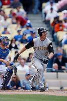 Adam LaRoche of the Pittsburgh Pirates during a game against the Los Angeles Dodgers in a 2007 MLB season game at Dodger Stadium in Los Angeles, California. (Larry Goren/Four Seam Images)