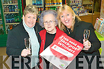 Fill us some bubbly: Ballybunion locals Annemarie Tydings and Margaret Hayes with Dana Mulvihill (centre) who sold Kerry's largest jackpot lottery ticket of EUR7.7M last week.