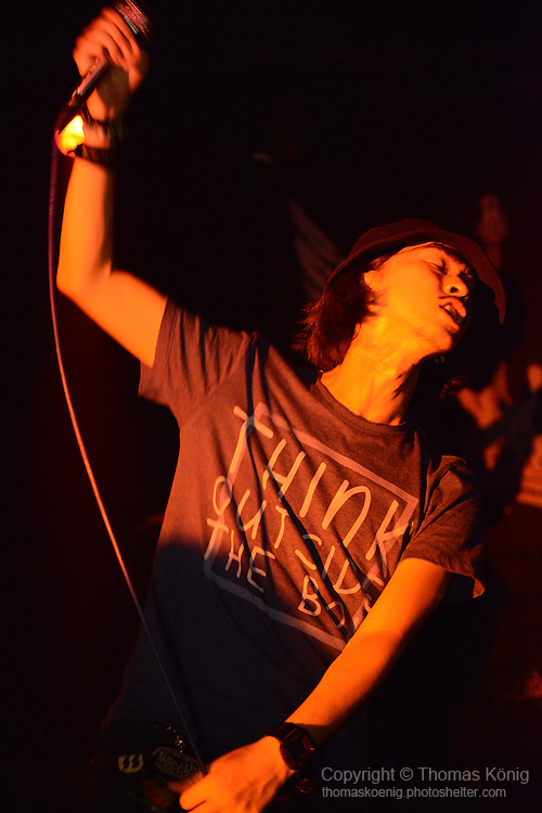 Rocks, Kaohsiung -- Tainan-based band IRON PUNCH (鐵擊) performing on stage at the Rocks during the 月來樂搖滾 show in June 2014.