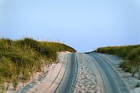 Sand beach road, Race Point Beach, Cape Cod National seashore, provincetown, Massachusetts, USA