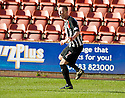 PARS JOE CARDLE CELEBRATES AFTERHE SCORES DUNFERMLINE'S FIRST GOAL