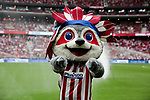 Indi the mascot of Atletico de Madrid during La Liga match between Atletico de Madrid and SD Eibar at Wanda Metropolitano Stadium in Madrid, Spain.September 01, 2019. (ALTERPHOTOS/A. Perez Meca)