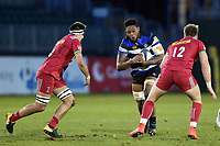 Levi Douglas of Bath United in possession. Aviva A-League match, between Bath United and Harlequins A on March 26, 2018 at the Recreation Ground in Bath, England. Photo by: Patrick Khachfe / Onside Images
