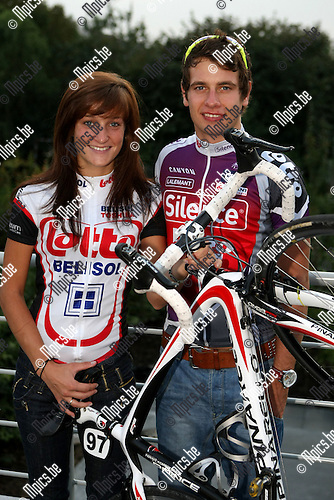 2009-09-15 / Wielrennen / Adam Blythe met vriendin Lizzie Armistead..Foto: Maarten Straetemans (SMB)