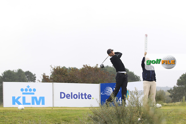 Reiner Saxton (NED) on the 14th tee during Round 4 of the KLM Open at Kennemer Golf &amp; Country Club on Sunday 14th September 2014.<br /> Picture:  Thos Caffrey / www.golffile.ie