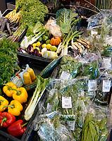 Nederland - Amsterdam - Januari 2020. HORECAVA. Kistjes met diverse groenten en fruit . Foto Berlinda van Dam / Hollandse Hoogte