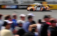 May 2, 2008; Richmond, VA, USA; NASCAR Sprint Cup Series driver Kyle Busch during practice for the Dan Lowry 400 at the Richmond International Raceway. Mandatory Credit: Mark J. Rebilas-